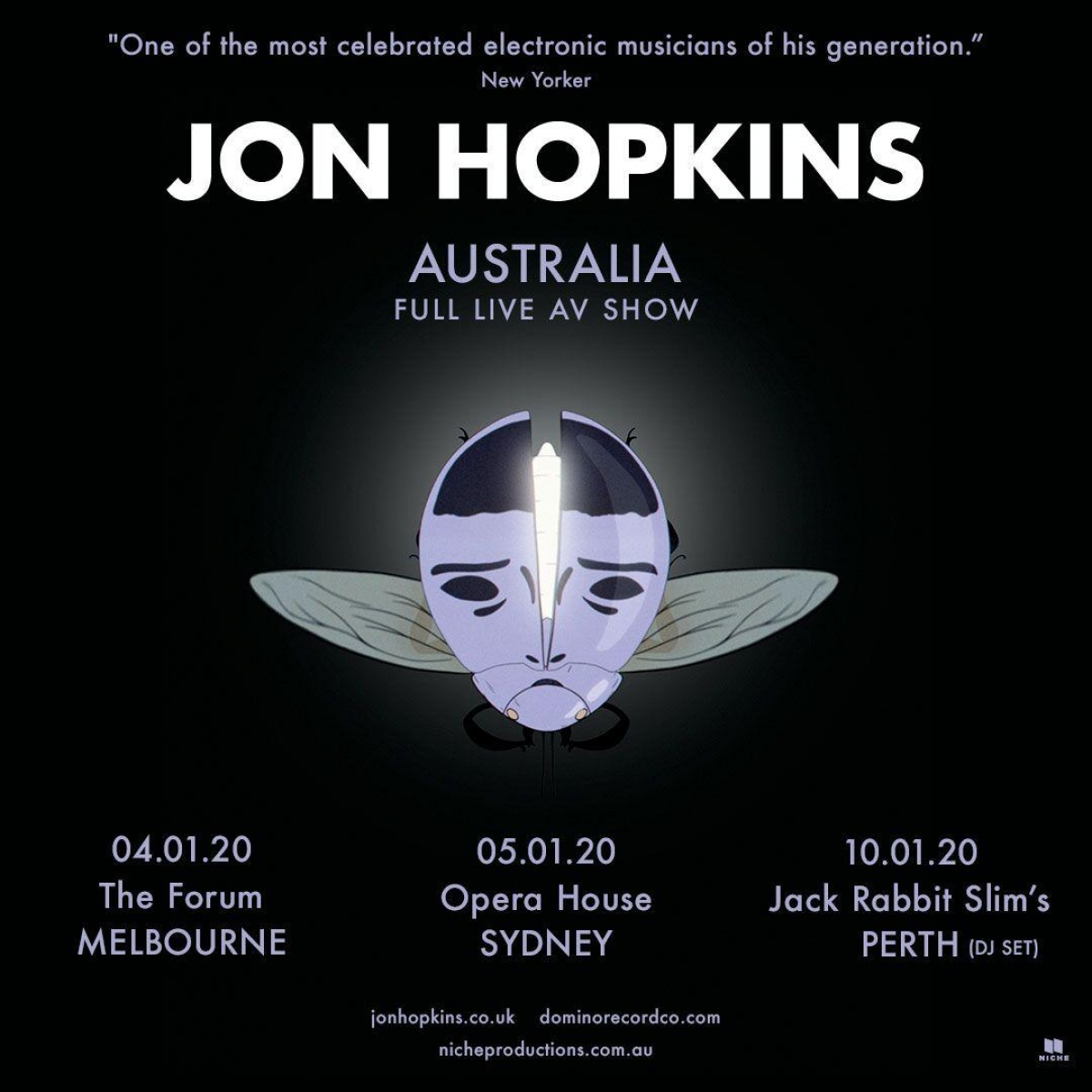 Australian tour dates - January 2020